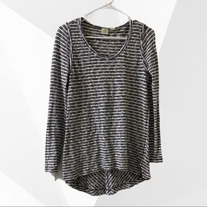 Lucy & Laurel Striped High Low Tunic Size Small